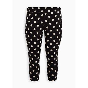 🆕 Black Super Dot Crop Premium Legging 1X 14 16